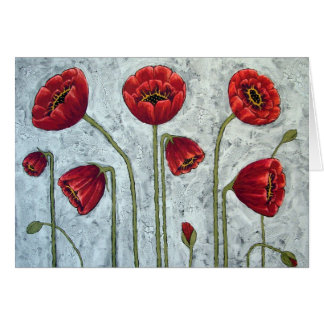 Misty Morning Poppies Card