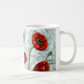 Misty Morning Poppies Coffee Mug