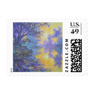 Misty Morning Postage Stamps