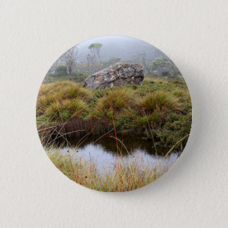 Misty morning reflections, Tasmania, Australia Pinback Button