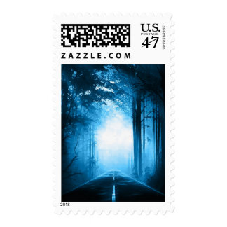 Misty Morning Road Stamp