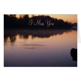 Misty Morning Sunrise-Miss You Greeting Card