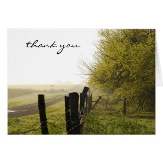 Misty Morning Thank You Card
