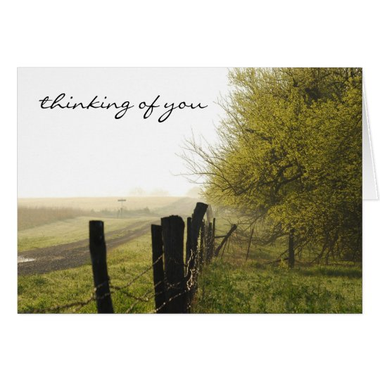 Misty Morning Thinking of You Greeting Card