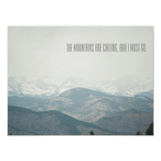 Misty Mountain Calling Poster