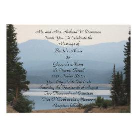 Misty Mountain Lake Wedding Invitation