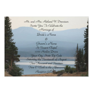 "Misty Mountain Lake Wedding Invitation 5"" X 7"" Invitation Card"
