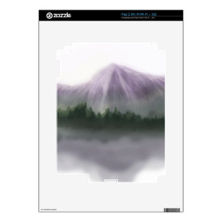 Misty Mountain Landscape Decal For iPad 2