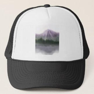 Misty Mountain Landscape Trucker Hat