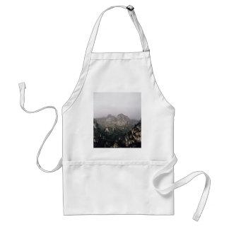 Misty mountain range adult apron