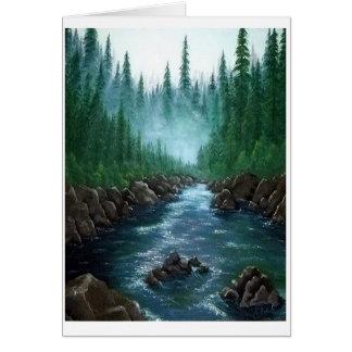 Misty Mountain River Card
