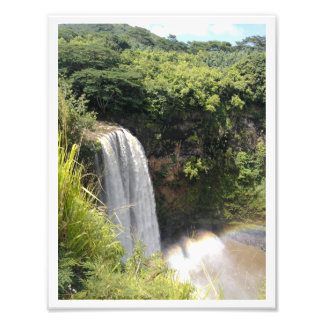 """Misty Mountain Waterfall"" Kauai Photo Print"