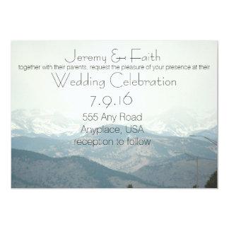 Misty Mountain Wedding Invitation