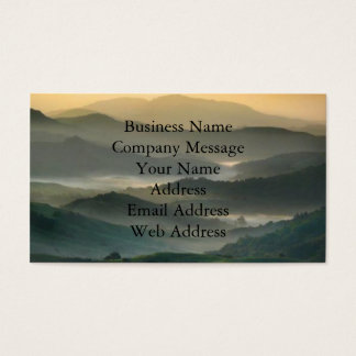 Misty Mountains Business Cards