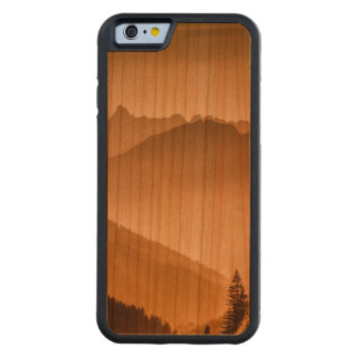 Misty mountains carved cherry iPhone 6 bumper case