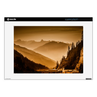 """Misty mountains decal for 15"""" laptop"""