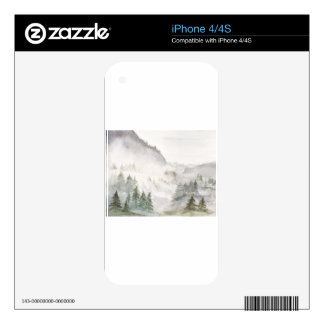 Misty Mountains iPhone 4 Decal