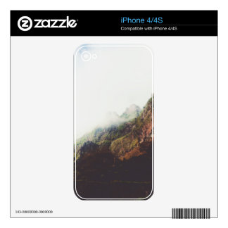 Misty Mountains, Relaxing Nature Landscape Scene Decals For The iPhone 4S