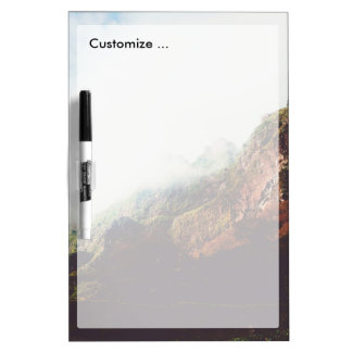 Misty Mountains, Relaxing Nature Landscape Scene Dry-Erase Board