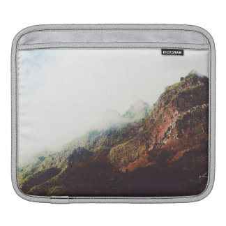 Misty Mountains, Relaxing Nature Landscape Scene iPad Sleeve