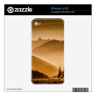 Misty mountains skin for iPhone 4S