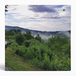 Misty Mountains The Great Smoky Mountains 3 Ring Binder