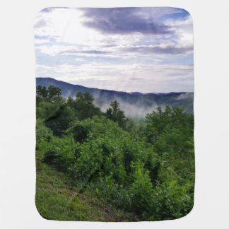 Misty Mountains The Great Smoky Mountains Baby Blanket