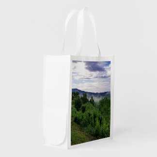 Misty Mountains The Great Smoky Mountains Grocery Bags