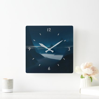 Misty Mountains Wall Clock Numbers