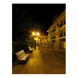 Misty night at Cangas de Onis postcard