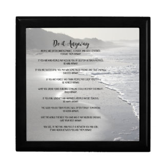 Misty Ocean Beach Do It Anyway Keepsake Box
