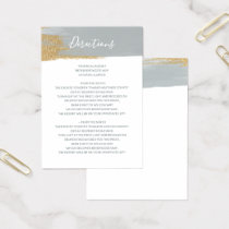 Misty Ocean Gilded Brush Strokes directions card