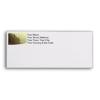 Misty Ocean Landscape at Dawn Envelope
