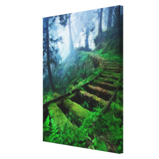 Misty Path Through the Woods Canvas Print