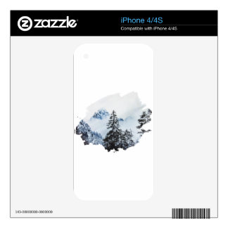Misty peak Watercolor Decal For The iPhone 4S
