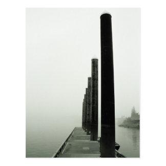 Misty Pier on the Willamette River Postcard