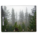 Misty Pine tree forest Dry-Erase Board