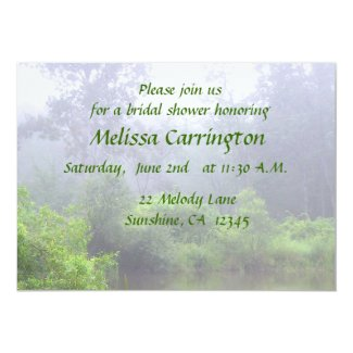 Misty Pond Bridal Shower Personalized Announcement