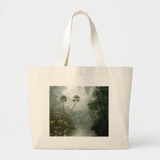 Misty River Dreams Large Tote Bag