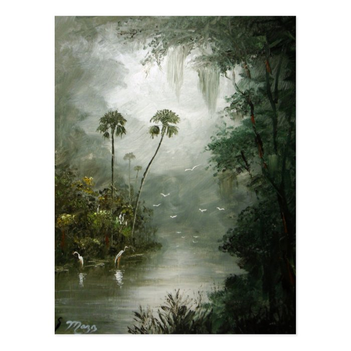 Misty River Dreams Postcard
