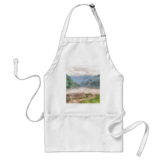 Misty river in the mountains adult apron