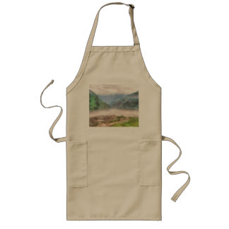 Misty river in the mountains long apron