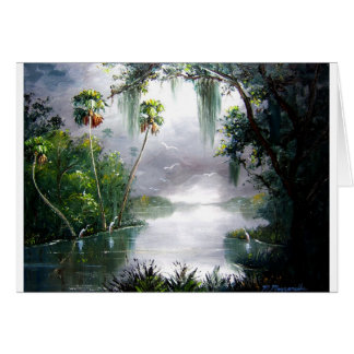 Misty River Moss Greeting Card