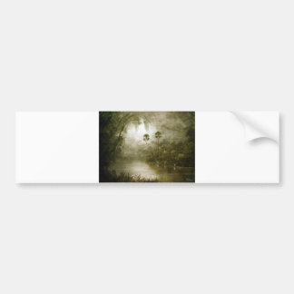 Misty River Tranquility Bumper Sticker