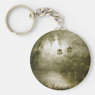Misty River Tranquility Keychain