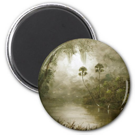 Misty River Tranquility Magnet