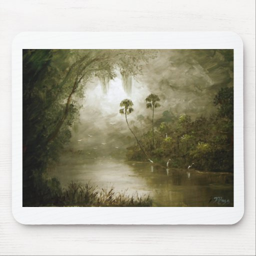 Misty River Tranquility Mouse Pad