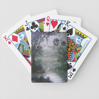 Misty River with Moss Poker Deck