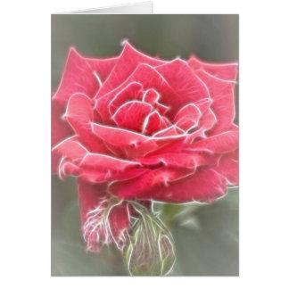 Misty Rose Greeting Card