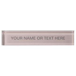 Misty Rose Solid Color Name Plate